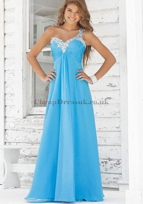 Свадьба - empire waist chiffon pleated a-line long prom dress - Cheap-dressuk.co.uk