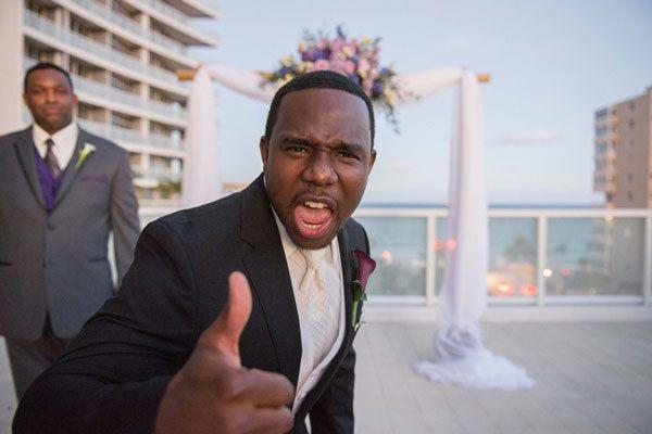 Свадьба - Michelle And Roger's Rooftop Ft. Lauderdale, FL Wedding By PhotoNotions Photography