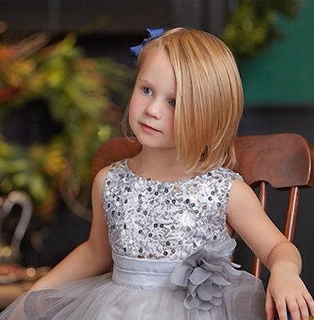 Hochzeit - Flower Girl Sequin Dress, Flower Girl Dress, special occasion dress, Girls silver sequin dress, cominion dress (ets0155)