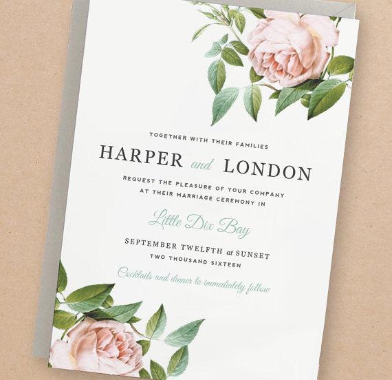 Printable Wedding Invitation Template #2268707