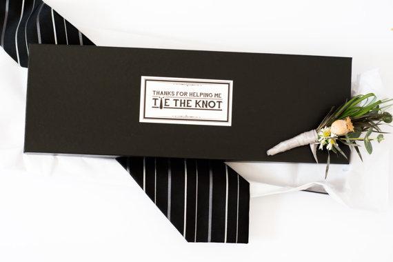 Свадьба - Tie Gift Box. Groomsmen Gift.