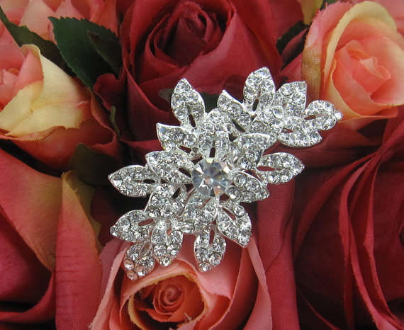 Свадьба - Swarovski Bridal Clip, Rhinestone Clip, Bridal Comb Crystal, Wedding Crystal Hair Comb, Hair Comb, Wedding Accessory, Bridal Headpiece, Comb