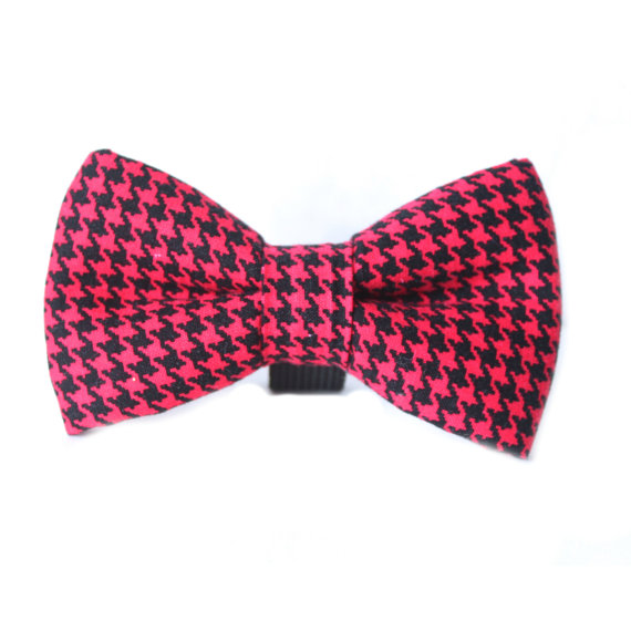 Свадьба - Dog Bow Tie,Red Dog Bow Tie, Houndstooth Dog Bow