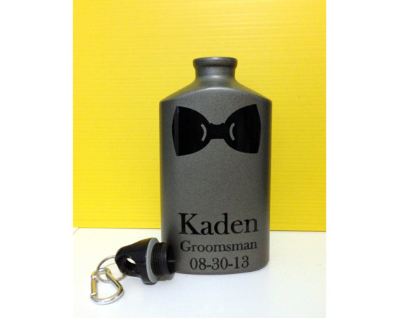 Свадьба - Ring Bearer Gift -Bridal Party Personalized Gift - Canteen - Groomsmen Gift, Bridesmaid Gift, Ring Bearer, Flower girl