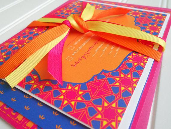 زفاف - Wedding Invitations - Colorful Moroccan Collection