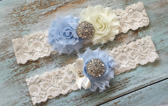 Düğün - Blue Wedding Garter, CUSTOMIZE IT, Bridal Garter, Lace Garter Set, Something Blue, Garter Belt