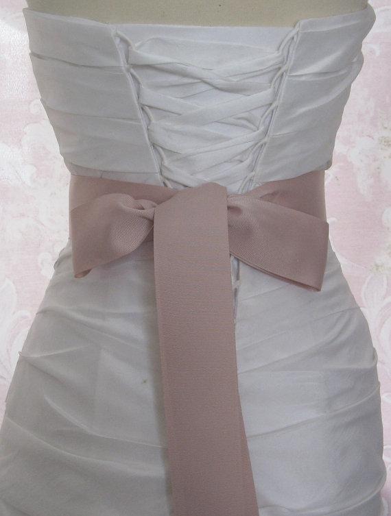 Mariage - Blush Grosgrain Ribbon, 2 Inch Wde, Pale Mauve Ribbon Sash, Pink Bridal Sash, Wedding Belt, 4 Yards