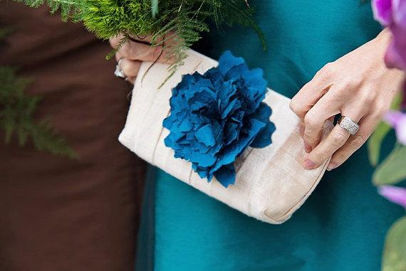 زفاف - Peacock wedding clutches, Personalized bridesmaids gift idea,