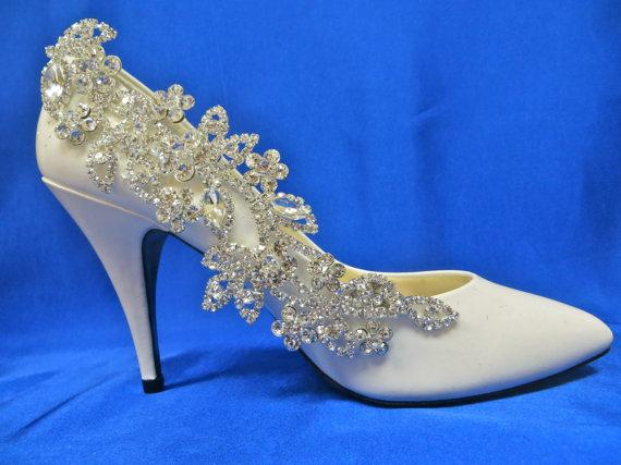 Mariage - Bridal Shoe Clips, Bridal Shoe Accessory, Rhinestone Shoe Clips, Wedding Bridal Shoes