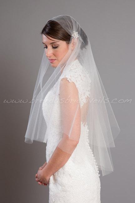 Mariage - Cap Veil, Great Gatsby Veil, Juliet Cap Veil, Bridal Veil, 1920s Wedding Veil - Anna-Kate