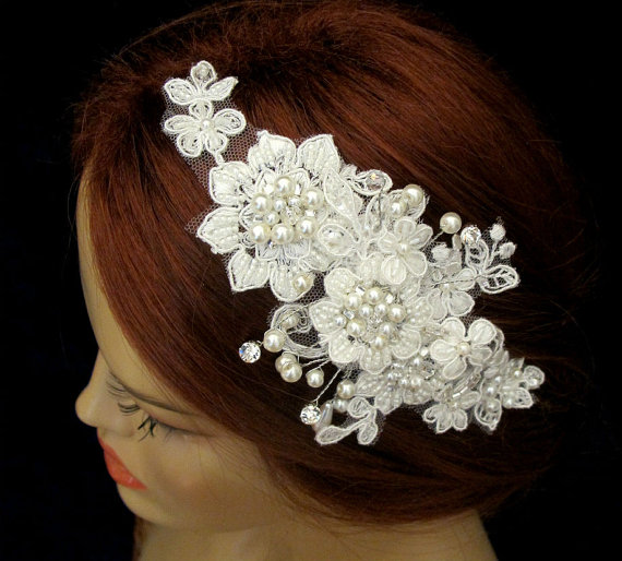 Beaded jeweled headbands wedding