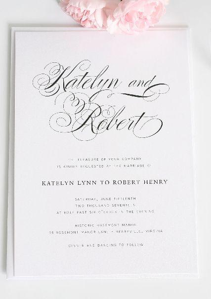 Hochzeit - (Invitations)