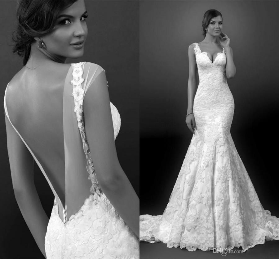2015 sexy backless wedding dresses mermaid spring lace for Lace wedding dresses open back
