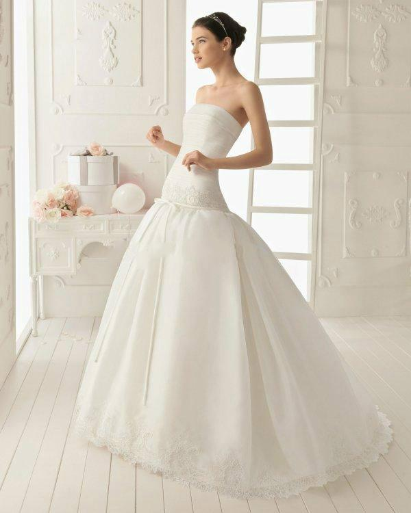 Delicate 2014 NEW Arrival A-line Lace Ball Gown Wedding Dresses With ...