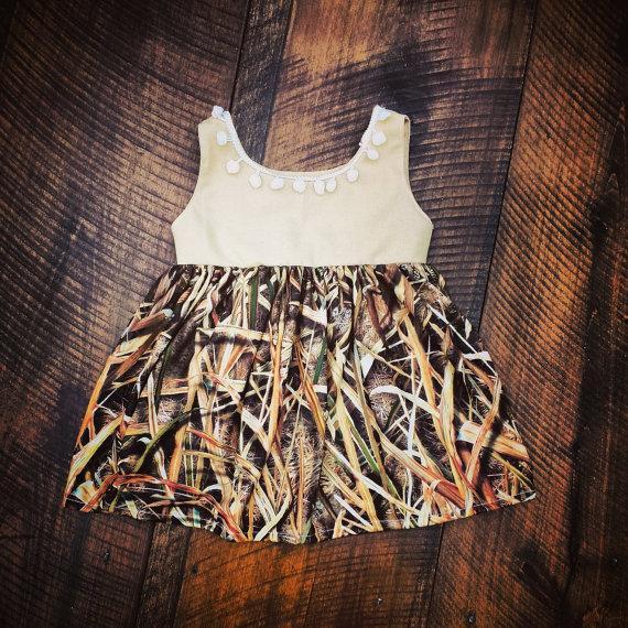 mossy oak flower girl dress grass blades camouflage