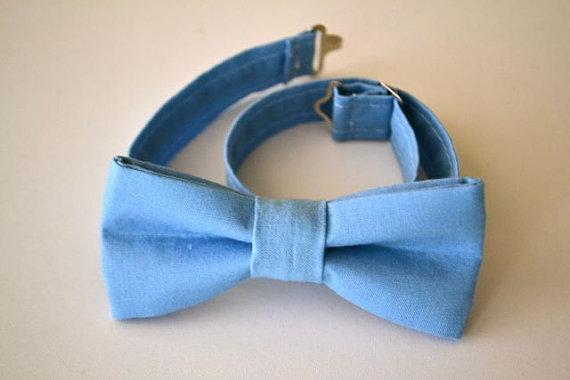 Свадьба - SALE Boys Bowtie Periwinkle Blue Adjustable- Ages 2-10