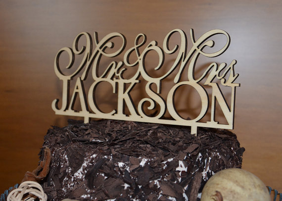 Wedding - Natural Wood  Wedding Cake Toppers and More