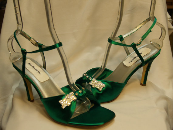 Свадьба - Wedding Shoes Emerald Green