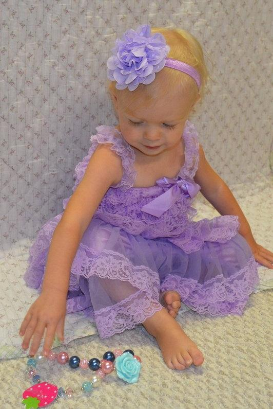 Свадьба - SALE!! Adorable Lilac Lace Dress-Baby-Toddler-1st Birthday Dress-Photograpy prop-Flower girl dress