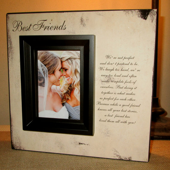 Quotes About Best Friends Gift : Best friend friends picture frame poem quote