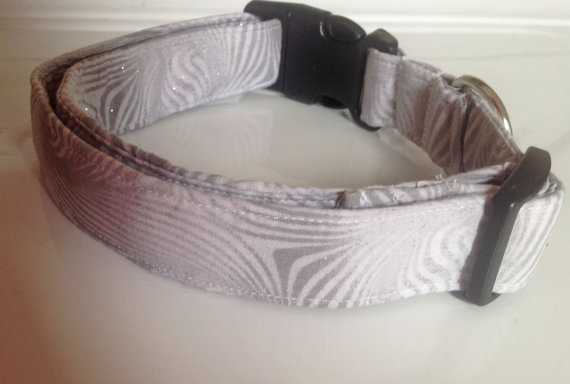 Свадьба - Gray Male & Female Dog or Cat Collar- Wedding and Special Events