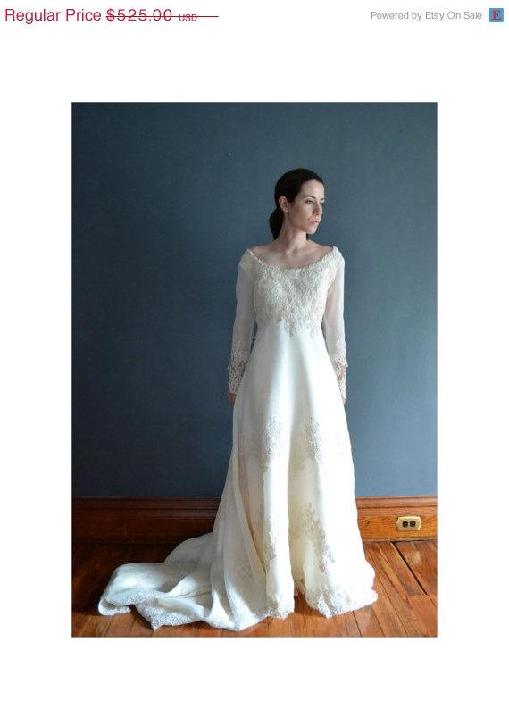 Wedding - SALE - 30% OFF Adaline / 70s wedding dress / 1970s wedding dress