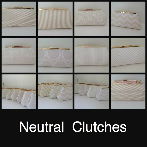 Mariage - Discount for Multiple Clutch Purse Orders  (Your Choice), Wedding Clutch, Bridesmaid Gift, Beige, Taupe, Neutral Color, Bridal Party, gift,