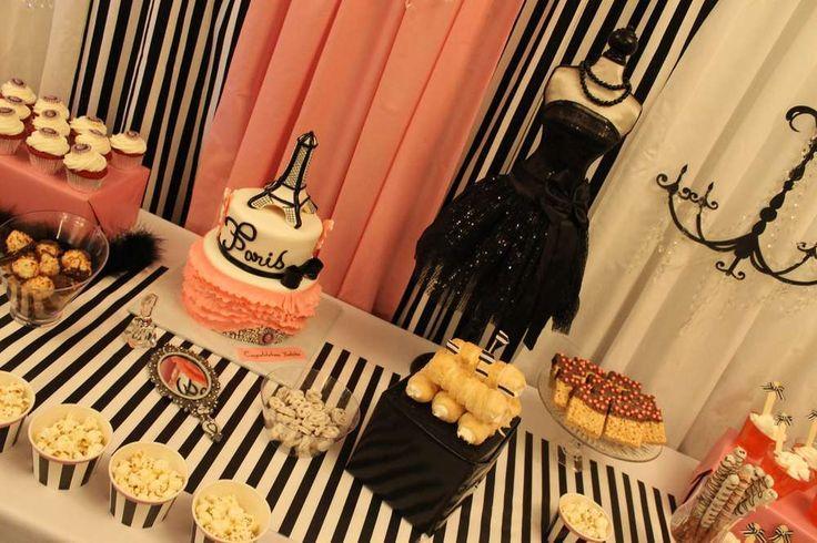 french parisian bridalwedding shower party ideas