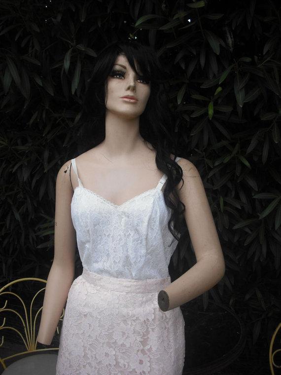 Свадьба - Vintage Nylon Slip by Deena Fine Lingerie  38