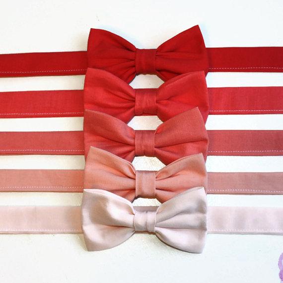 Свадьба - Salmon Peach Blush Coral Bow Tie kids, toddler, baby, boys, ringbearer, wedding, photoshoot