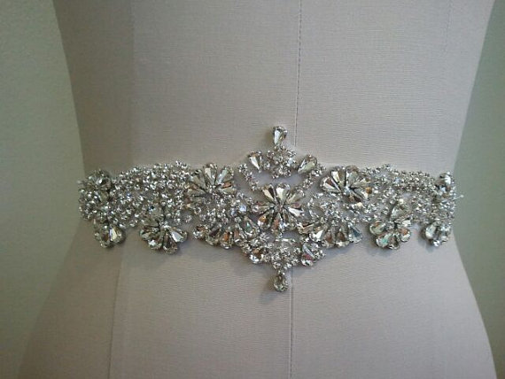 Свадьба - SALE - Wedding Belt, Bridal Belt, Sash Belt, Crystal Rhinestone Sash - Style B70018