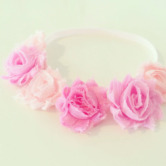 Pink Flower Crown Headband Pink Flower Crown Headband For Baby