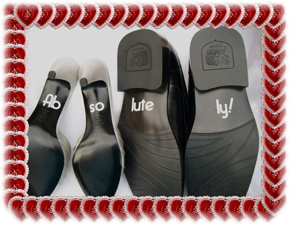 Mariage - Wedding Shoe Decals - Ab so lute ly - Free Shipping