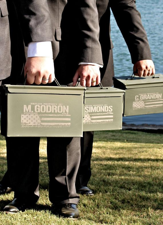 Wedding Gift For Best Man: Engraved Ammo Box Personalized With Name