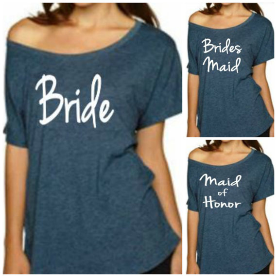 Mariage - Bride T-Shirt, Bridesmaid Shirt,  Maid of Honor Shirt, Sweatshirt. Wedding, Bachelorette Party.