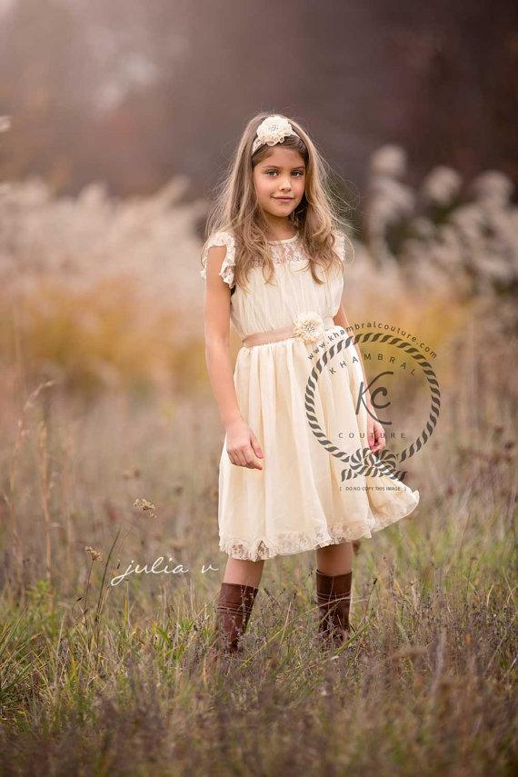 Wedding - flower girl dress ivory flower girl dress girls lace dress lace dress toddler lace dress boho flower girl dress flower girl dress lace