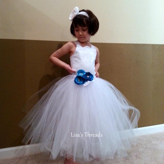 Wedding - Flower girl dress/ Vintage flower girl tutu dress/ Junior bridesmaids dress/ Flower girl pixie tutu dress/ Rhinestone tulle dress