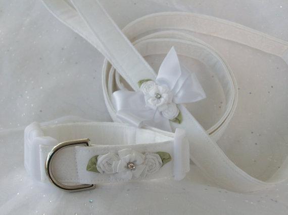 Свадьба - Wedding Leash and Collar Dog Collar and Leash Set