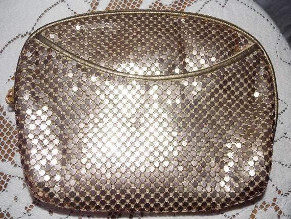 Mariage - Vintage Gold Mesh Clutch - Wedding - Prom - Formals - Glitter and Glam Style