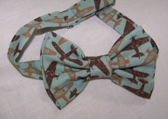 Mariage - Boy's Bow Tie - For the Little Guys. Bow Tie Airplane - Airplanes Bow Tie Child - Airplane Bow Tie
