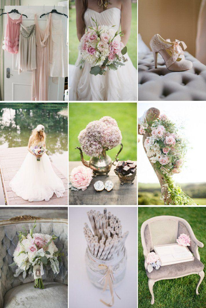 Dusty Rose Mauve Peach Cream And More Wedding Colors