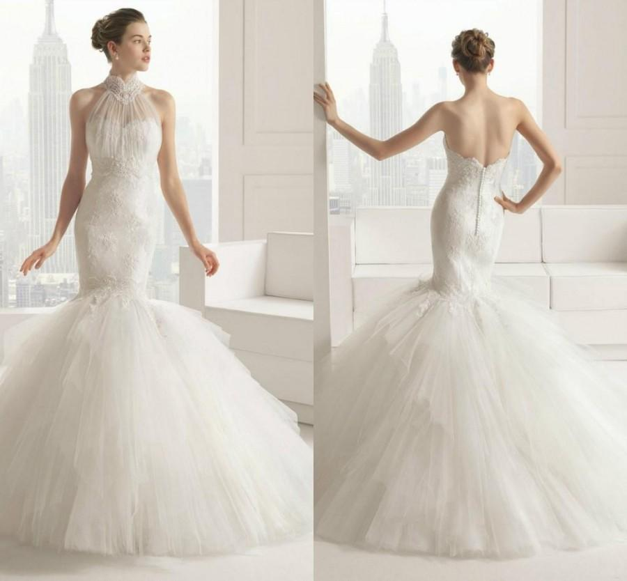 Stunning wedding dresses 2015 sexy long mermaid tulle for Sexy sheath wedding dress