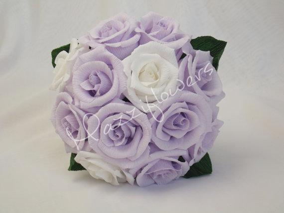 زفاف - Bridesmaid bouquet ,paper flower,bridal bouquet, wedding paper flower bouquet, bridal flower,paper flower,bouquet paper flower,purple roses