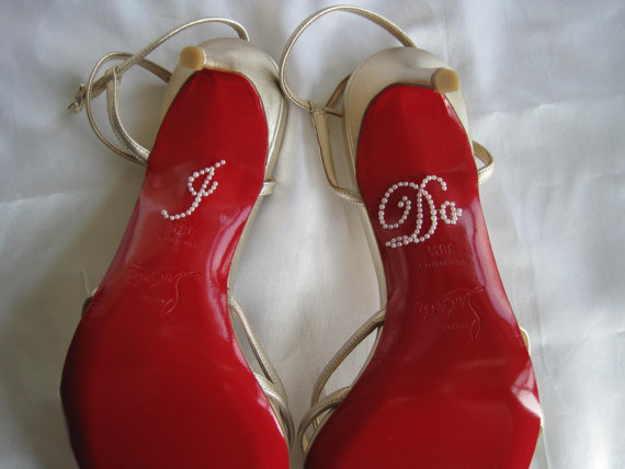 Hochzeit - I Do Stickers. I Do Applique for Shoes. Wedding Shoe Stickers. I Do Decals. Just Married. Wedding Favors. I Do Shoe Stickes.