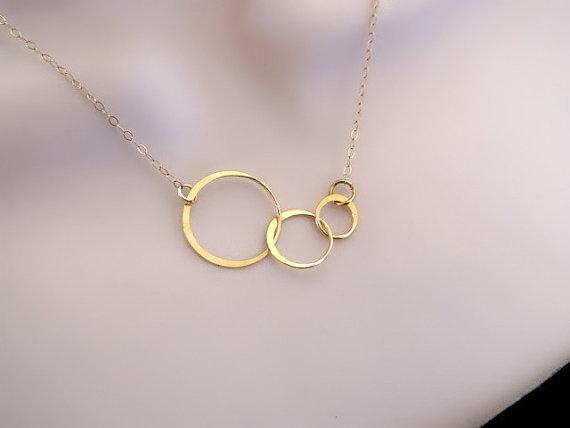 زفاف - Circle Necklace, Eternity Necklace, Dainty Gold Necklace, Mothers Necklace, Sisters Jewelry, Friendship Jewelry, Bridal Jewelry, Mom Gift