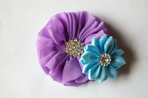 Свадьба - Dog collar flowers. Dog collar, dog collar bling, collar Flowers, Wedding Dog Flowers, Bows for Dogs, Dog Bows, Pet flower, purple and blue