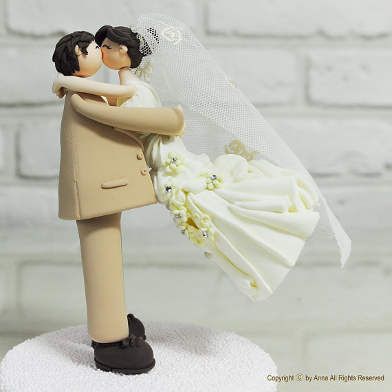 Cute Lovely Couple Wedding Cake Topper Gift Decoration