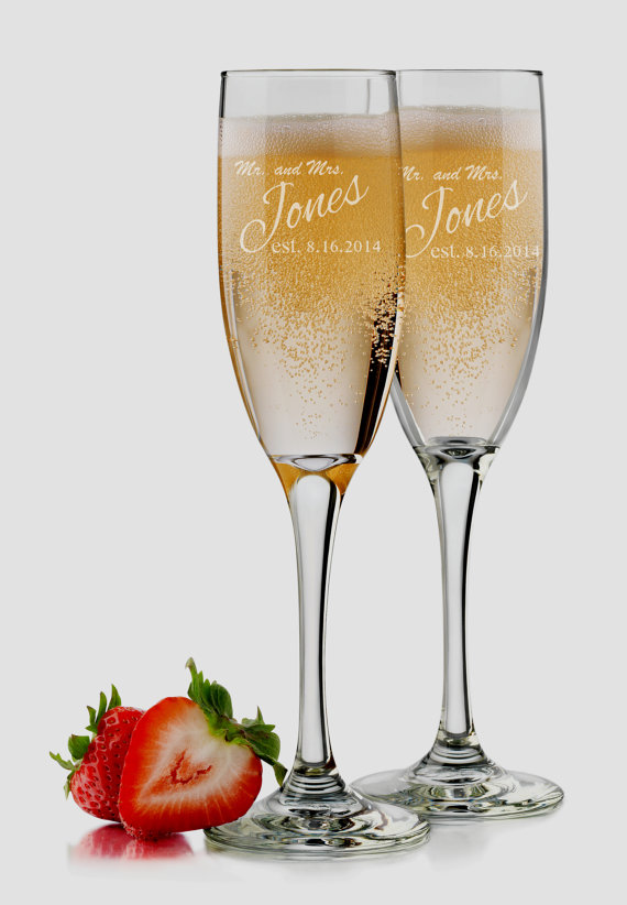 Bride And Groom Glasses Set Of 2 Personalized Champagne Bridesmaid Mr Mrs Wedding Toasting