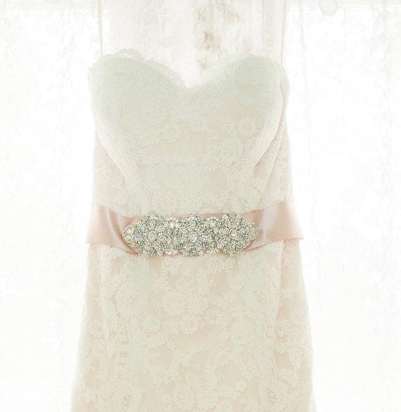 Mariage - Wedding Dress Crystal Belt Embellished Sash Belt