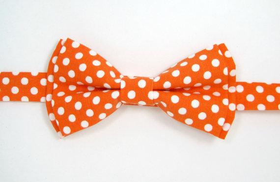 Mariage - Boys bow tie, Baby bow tie,Orange bow tie,Men bow tie,Wedding bow ties,Groomsmen bow tie,Ring bearer bow tie